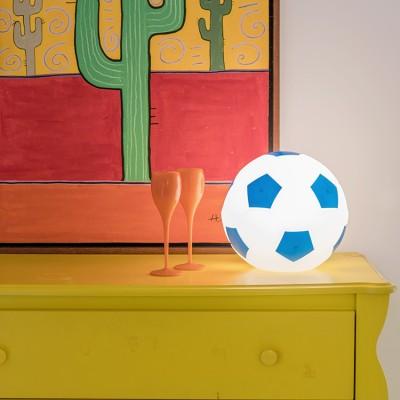 Luminária Bola de Futebol- Branco e Azul