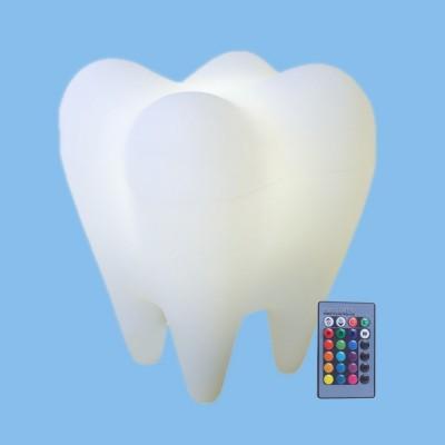 Luminária Dente LED RGB com Fio e Controle Remoto