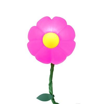 Luminária de parede Flor Rosa