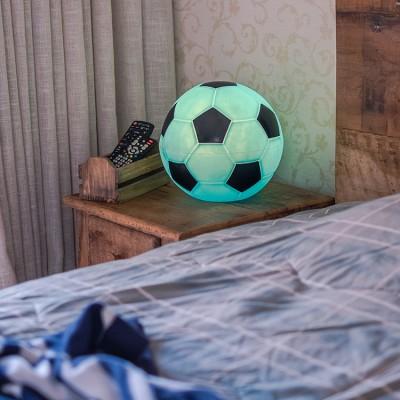 Luminária Bola de Futebol- Azul e Preto
