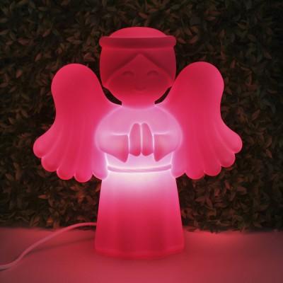 Luminária Anjinho da Guarda Rosa