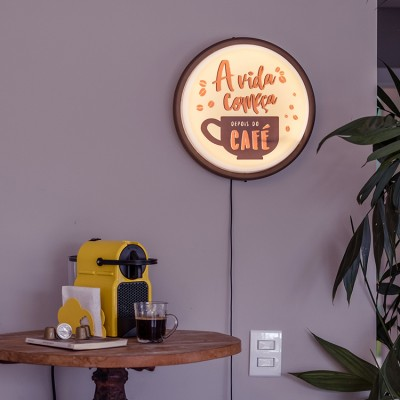 Luminária de parede Sign Coffee