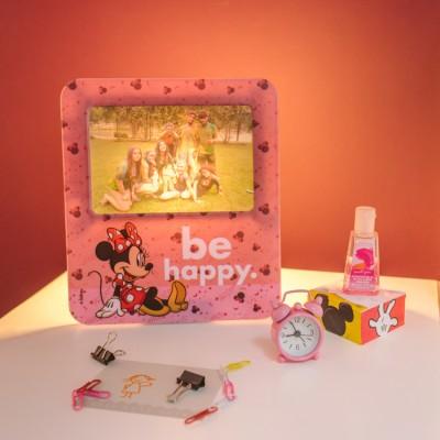 Luminária Porta Retrato Minnie Be Happy Pink