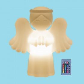 Luminária Anjinho da Guarda LED RGB com Fio e Controle Remoto