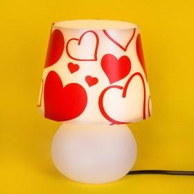 Abajur Micro Lampe Capa Coração