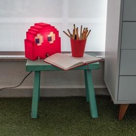 Luminária Fantasminha Pacman Vermelho - Blinky
