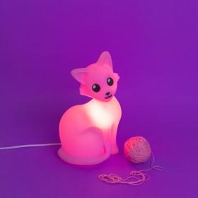 Luminária Gatinha Rosa