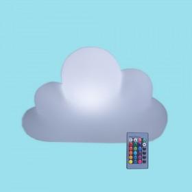 Luminária Nuvem de Mesa LED RGB com Fio e Controle Remoto