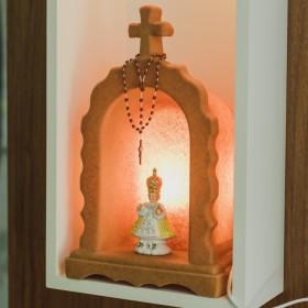 Oratório Iluminado Madeira