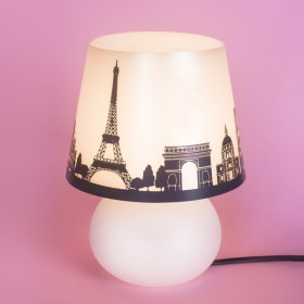 Abajur Micro Lampe Capa Paris Cinza