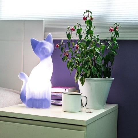 Luminária Gato Magrelo Lilás
