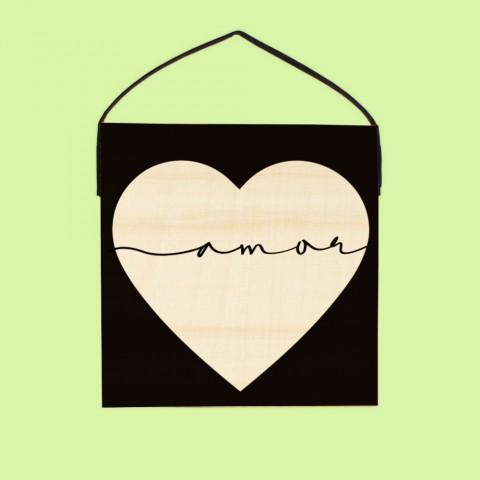 Quadro Amor no Coração