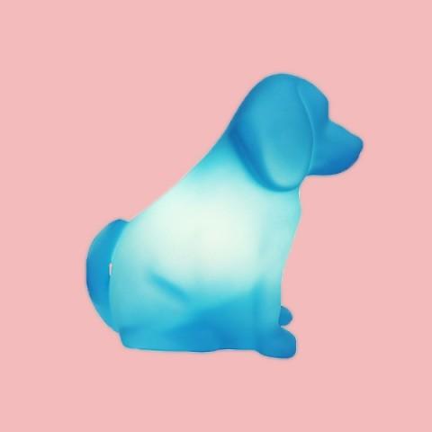 Luminária Cachorro Toby Azul
