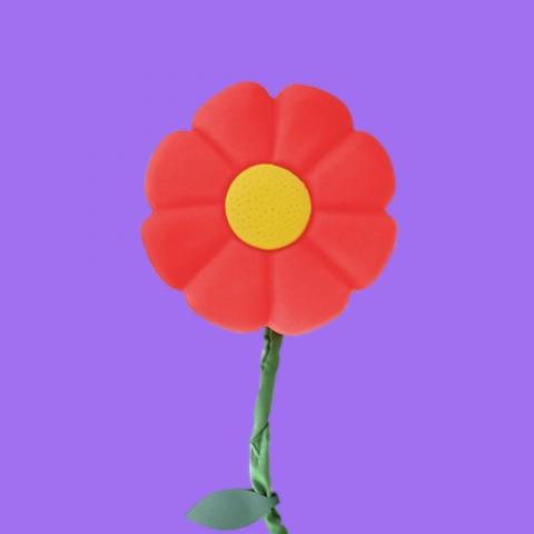 Luminária de parede Flor Vermelha