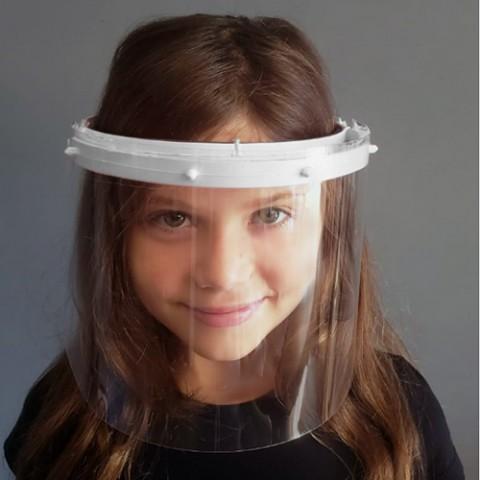 Face Shield Infantil-Branco