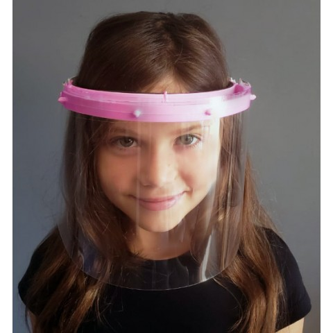 Face Shield Infantil-Rosa