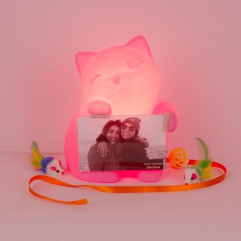 Luminária Porta Retrato Gatinha