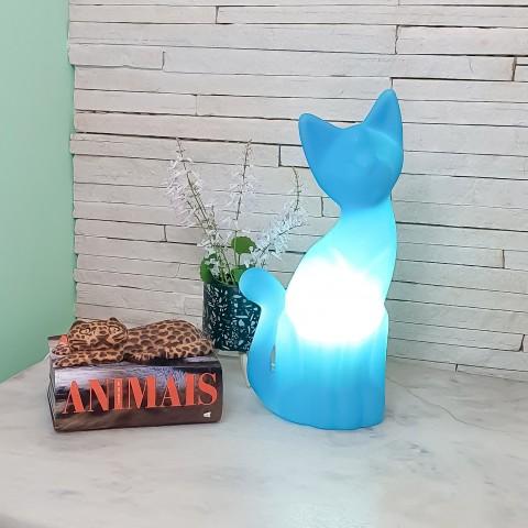 Luminária Gato Magrelo Azul