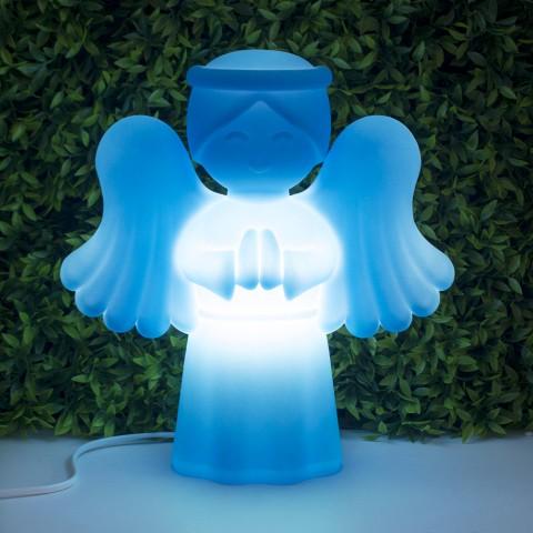Luminária Anjinho da Guarda Azul