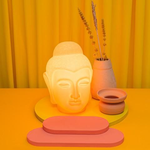 Luminária Buda Laranja