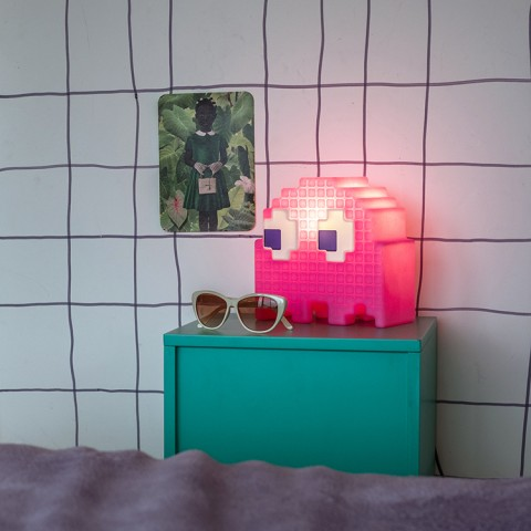 Luminária Fantasminha Pacman Rosa - Pinky
