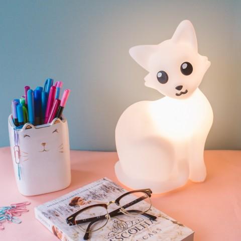 Luminária Gatinha Branca