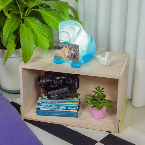 Luminária Porta Retrato Cachorro Buddy Azul