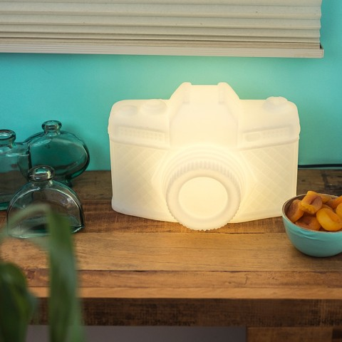 Luminária Câmera Branca
