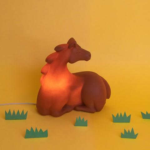 Luminária Cavalo Marrom