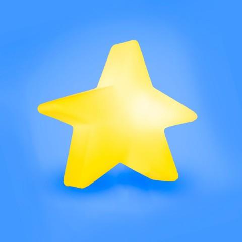 Luminária Estrela Estilizada-Amarelo