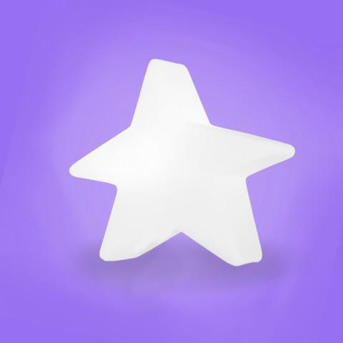 Luminária Estrela Estilizada-Branco
