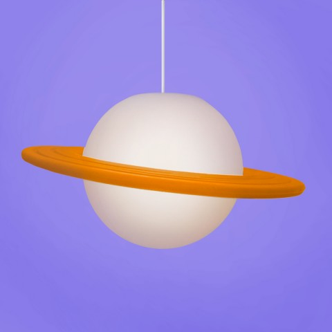 Luminária Pendente Saturno Laranja