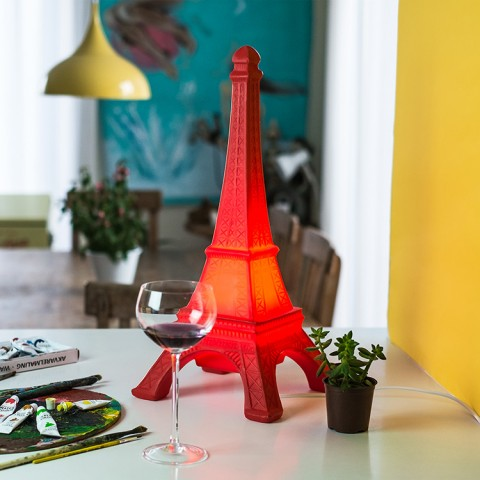 Luminária Torre Eiffel Vermelha