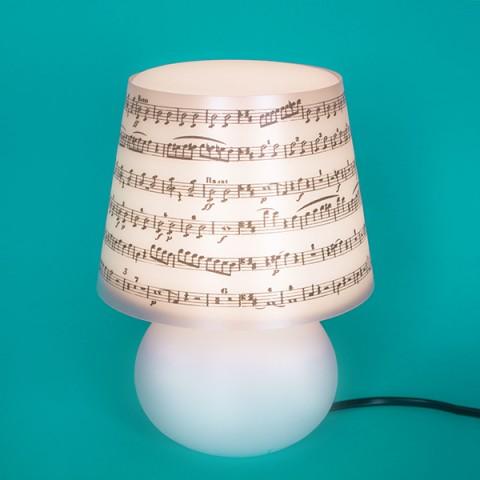 Abajur Micro Lampe Capa Música