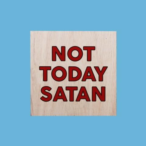 Quadrinho Not Today Satan