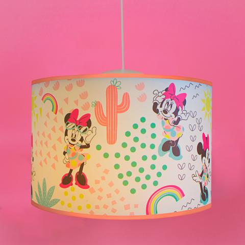 Luminária Pendente Pop Minnie Rosa