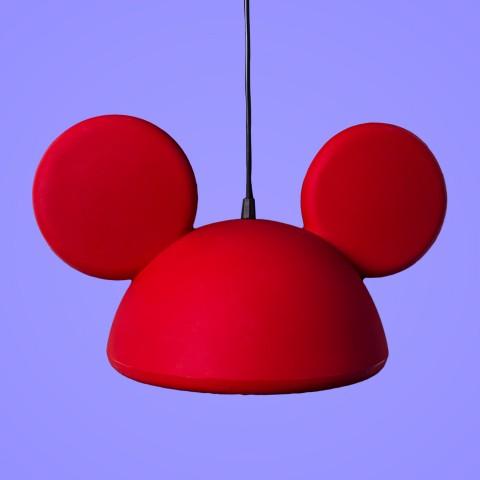 Pendente Aberto Orelhas Mickey Vermelho