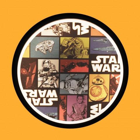 Luminária de Parede Sign Star Wars Mosaico