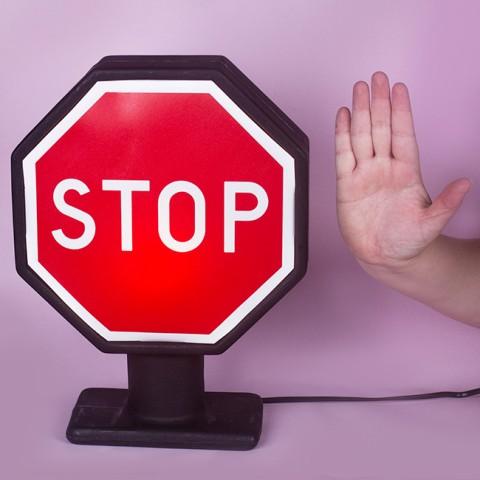 Luminária Placa Stop