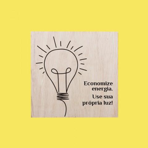 Quadrinho Economize Energia