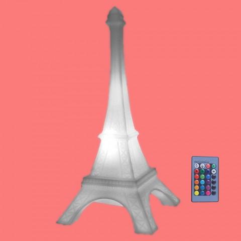 Luminária Torre Eiffel LED RGB com Fio e Controle Remoto