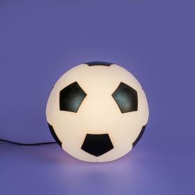 Luminária Bola de Futebol-Preto