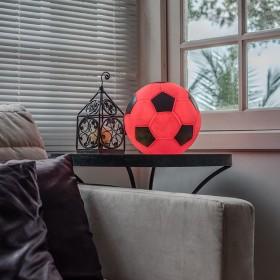 Luminária Bola de Futebol - Vermelho e Preto