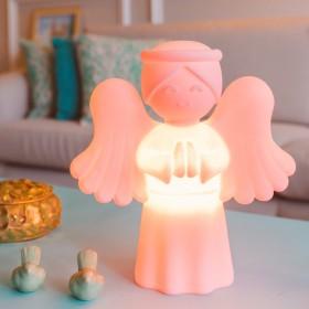 Luminária Anjinho da Guarda Rosa Bebê