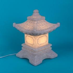 Luminária Lanterna Japonesa Toro Cinza