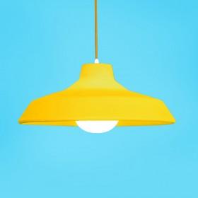 Luminária Pendente Sinuca Amarela