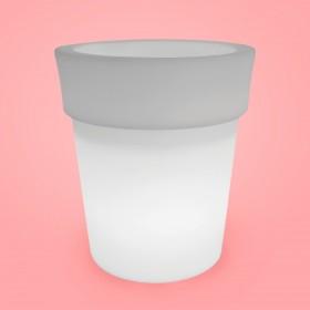 Cachepot Iluminado Vaso 50 LED